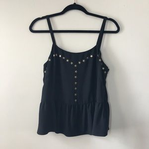Rachel Roy peplum tank with star detailing